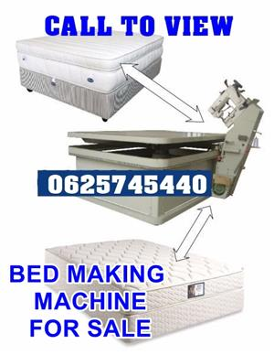 Bed making machine that makes all types of beds Tape Edge Bed