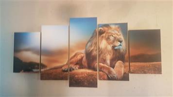 Lion canvas painting set
