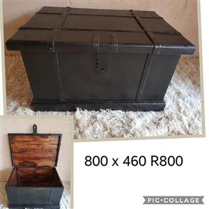Antique steel chest for sale
