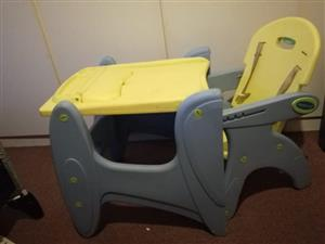 baby graco camp cot / 2 in 1 baby feeding chair or table and chair / bambino