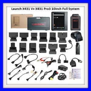 Launch X431 V+ 10inch Pro3 Wifi Bluetooth Full System Diagnostic Tool Update Online Two Year for Free