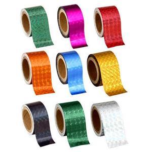 Pack of 6 - 30 Metre Prism Hologram Adhesive Tape