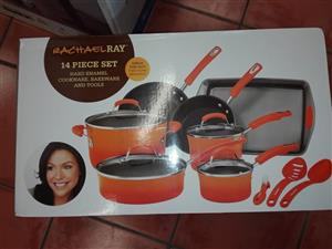 Rachael ray 14 pc cookware set
