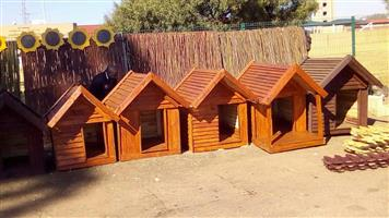 Various size wooden dog kennels
