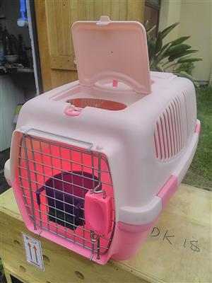 two pet carriers for sale