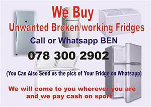 We buy broken FRIDGE