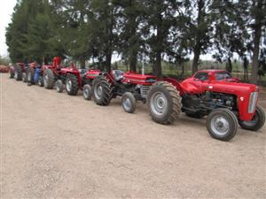 Massey,  John Deere,  Landini,  Ford , NewHolland, Fiat. tractors  available.