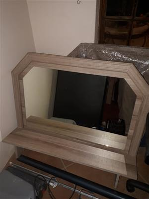 Headboard, mirror, pedestals and side cupboards - Double to King Size setting