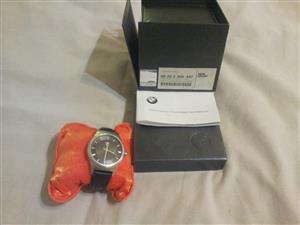 Original BMW 80262365447 Mens Watch.Stainless Steel/Genuine Leather Strap.