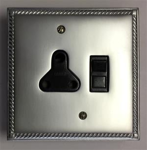 GEORGIAN SATIN CHROME  – SINGLE SOCKET – R 385