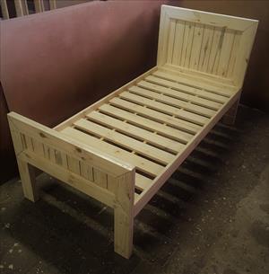 Headboard Chunky Farmhouse series Single bed combo Raw