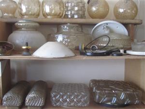 Bulk of different style and shape of LAMP SHADES