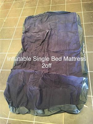 Inflatable single bed mattress