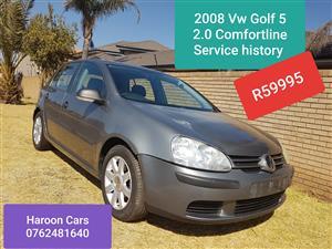 2008 VW Golf 2.0 Comfortline