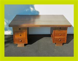 Vintage Partridge Wood Pedestal Desk - SKU 563