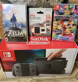 Yololo its xmas buy bn Nintendo Switch - 32GB Gray Console Bundle Zelda, Mario Kart (Gray Joy-Con)