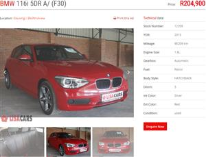 2015 BMW 1 Series 116i 5 door Sport