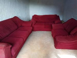 Couch three piece lounge suite