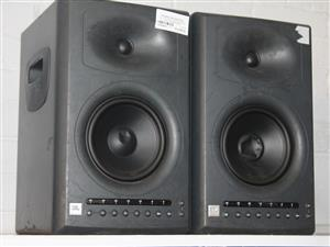 JBL STUDIO MONITOR SPEAKERS WITH POWER CABLE S045566A #Rosettenvillepawnshop