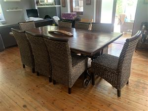Sleeper wood Dinning Room Table and Chairs for sale