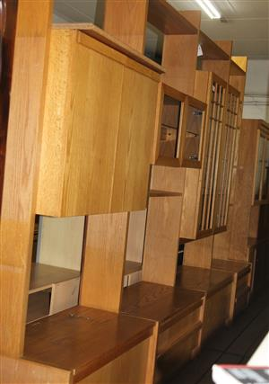 4 piece oak wall unit S031303A #Rosettenvillepawnshop