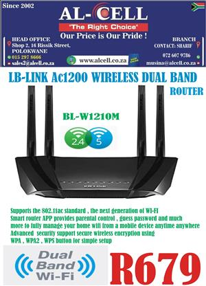 LB-LINK AC1200 Wireless Dual Band Router
