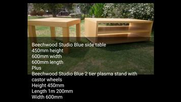 Beechwood side table and plasma stand