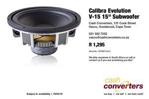"""Calibra Evolution V-15 15"""" Subwoofer"""