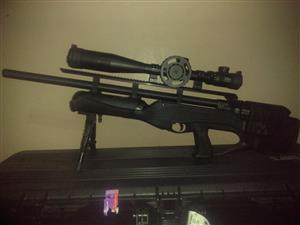 Pcp air rifle 25 cal hatsan hercules bully