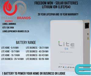 10KWH LITHIUM ION LITE HOME FREEDOM WON BATTERY