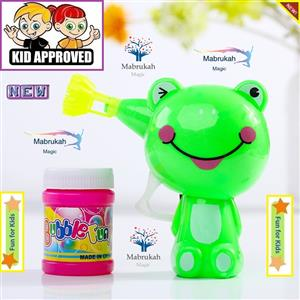 FROG BUBBLE GUN WITH BLOWING BUBBLES