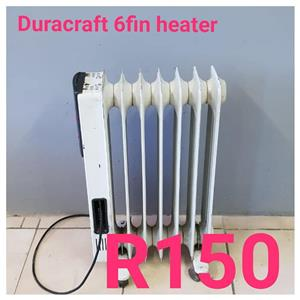 Duracraft 6 fin heater