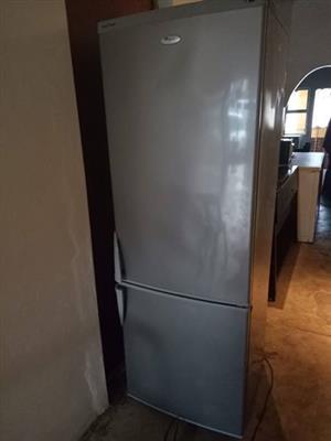 Beautiful silver whirlpool fridge freezer