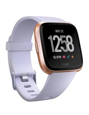 FITBIT VERSA Rose Gold Periwinkle Smart Watch LIKE NEW Hardly used