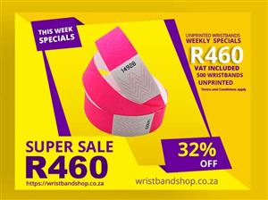 500 Tyvek Wristbands Specials