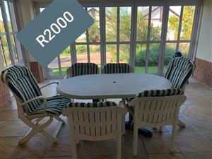 6 Seater patio set for sale