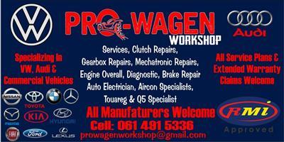 Prowagen workshop we specialzing in VW and AUDI VEHICLES. TOUREG & Q7, Q5 SPECIALIST