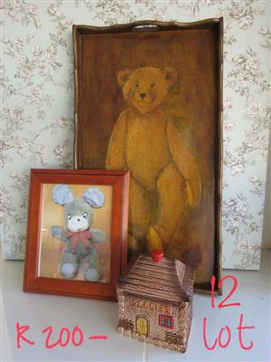 Bear paintings and goodies box