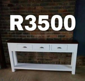3 Drawer white wooden stand