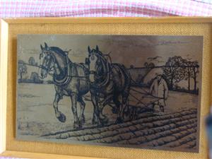 WALL HANGING  ETCHING ON STAINLESS STEEL