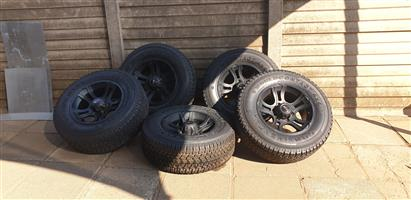 Tyres with Mags and Canopy