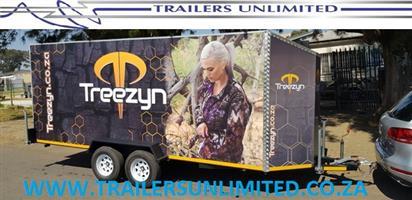 TRAILERS UNLIMITED DOUBLE AXLE ENCLOSED SHOP TRAILER.