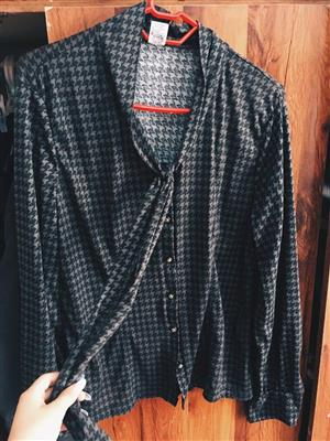 Grey knotting blouse for sale