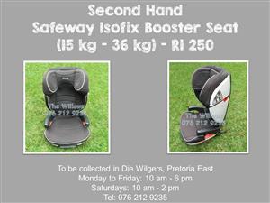 Second Hand Safeway Isofix Booster Seat (15 kg - 36 kg)