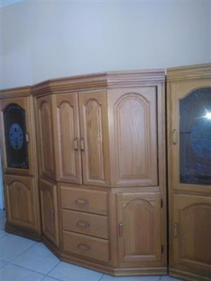 Oak wall units like new