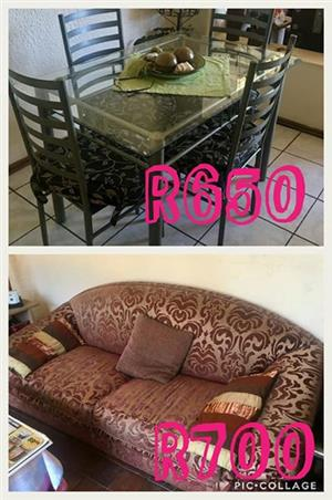 Dining set and couch