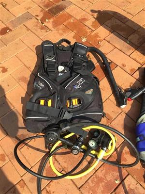 3 sets of scuba diving gear