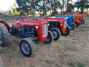 Massey  35x + plough or 1.2m Slasher R45,000       +  Landini`s   John Deere`s  +  Fiats,   Fords available.