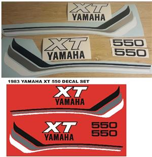 1983 Yamaha XT 550 stickers decal kits for sale  Pietermartizburg
