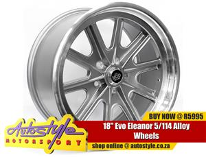 18 inch Evo Eleanor 5-114 Alloy Wheels